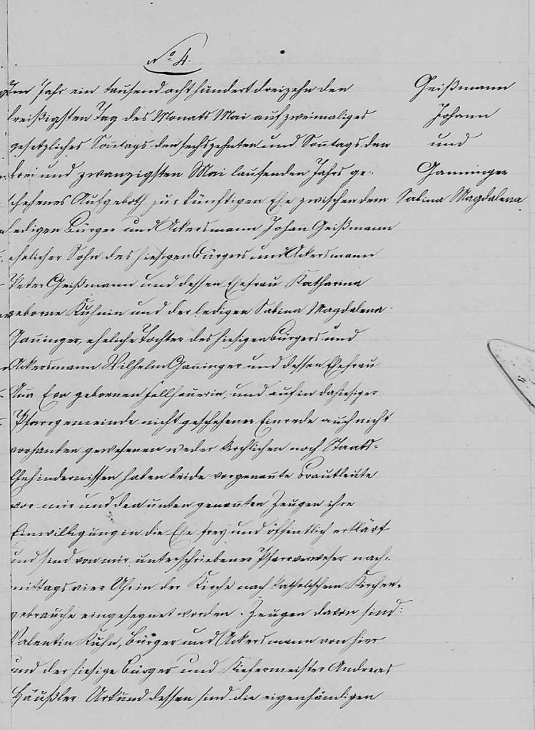 1813 - Ehe Ganninger, Sabina Magdalena