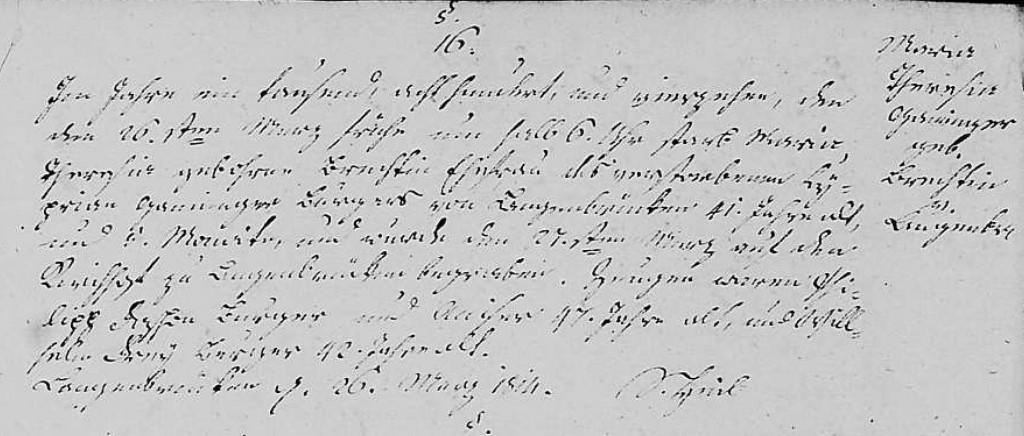 1814 - Tod Ganninger, Maria Theresia geb Brecht