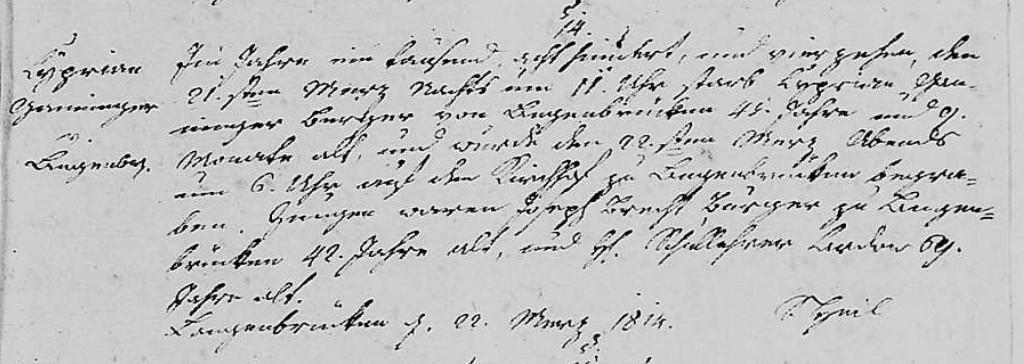 1814 - Tod Ganninger, Zyprian