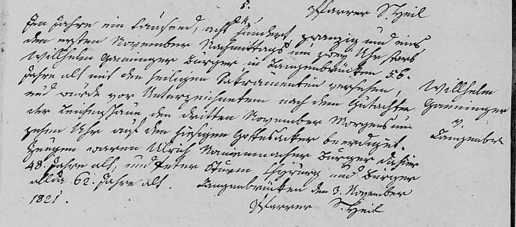1821 - Tod Ganninger, Wilhelm
