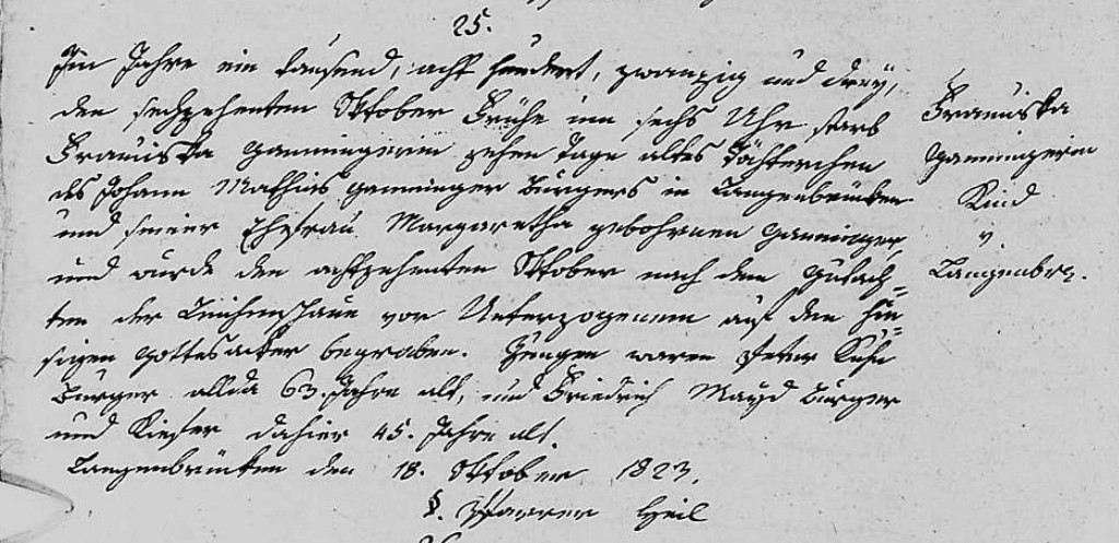 1823 - Tod Ganninger, Franziska