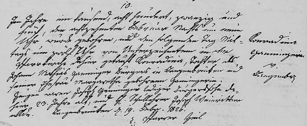 1825 - Geburt Ganninger, Konradina
