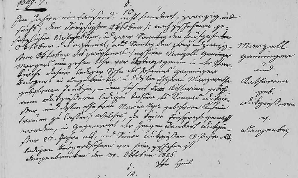 1826 - Ehe Ganninger, Marzell