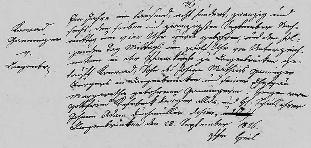 1826 - Geburt Ganninger, Konrad