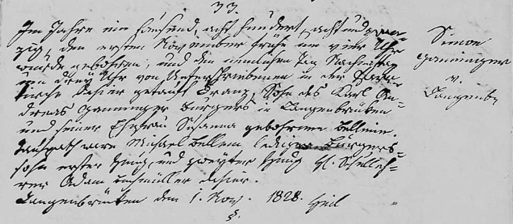 1828 - Geburt Ganninger, Simon