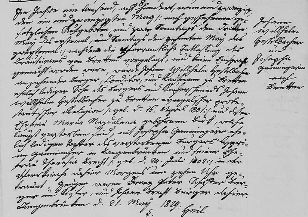 1829 - Ehe Ganninger, Josepha