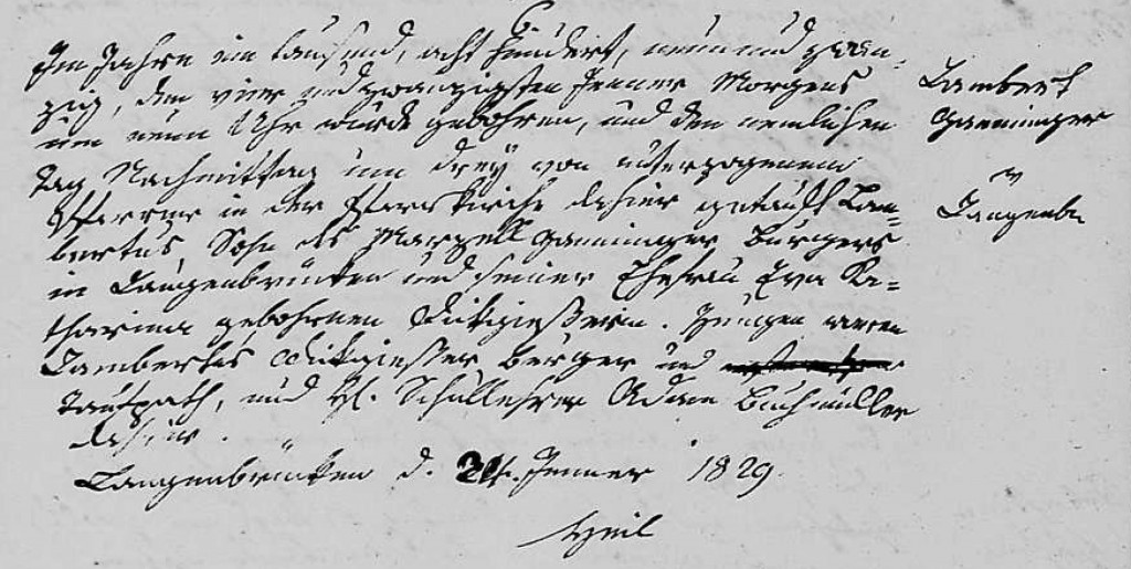 1829 - Geburt Ganninger, Lambert