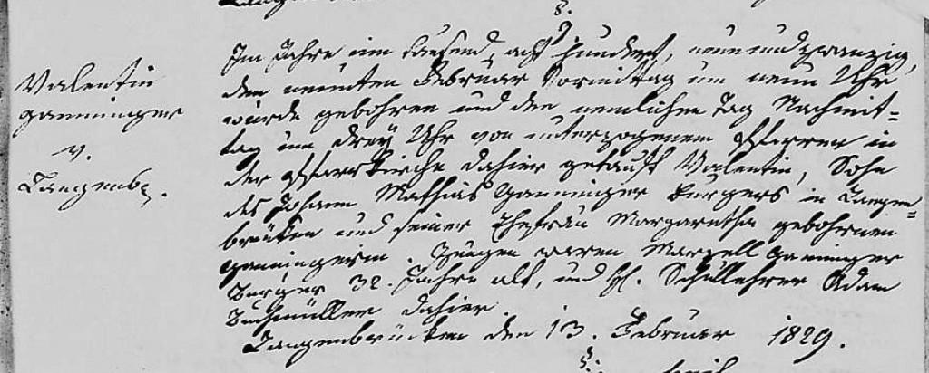 1829 - Geburt Ganninger, Valentin