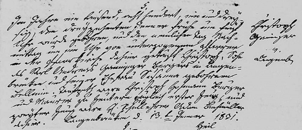 1831 - Geburt Ganninger, Christoph