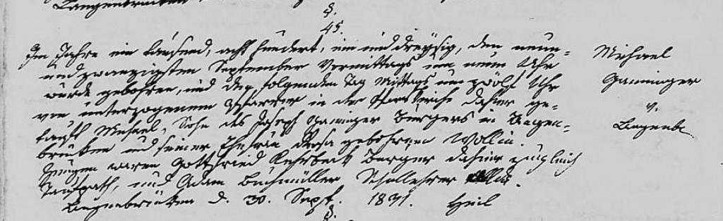 1831 - Geburt Ganninger, Michael