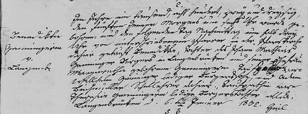 1832 - Geburt Ganninger, Benedikta