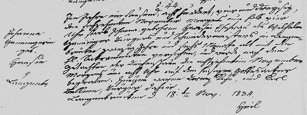 1834 - Tod Ganninger, Johanna geb Haas