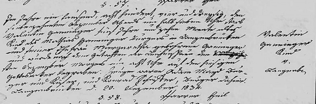1834 - Tod Ganninger, Valentin