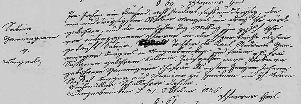 1836 - Geburt Ganninger, Sabina