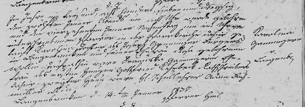 1837 - Geburt Ganninger, Karolina
