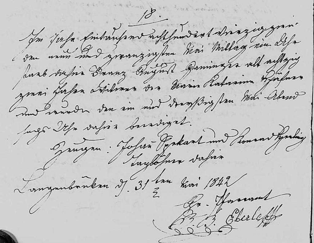 1842 - Tod Ganninger, Franz August