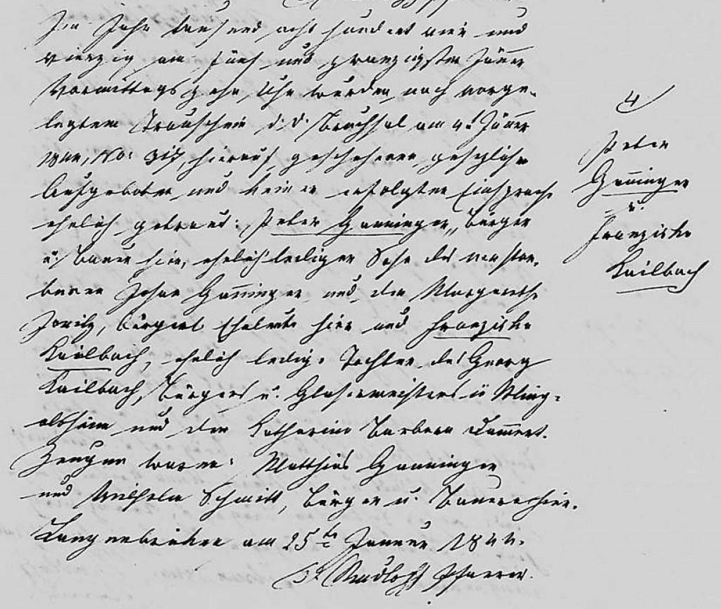 1844 - Ehe Ganninger, Peter