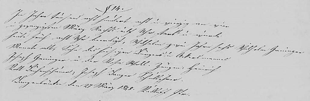 1848 -Tod Ganninger, Wilhelm