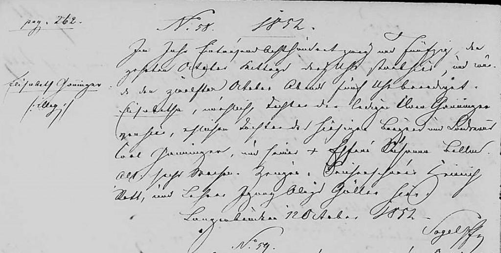1852 - Tod Ganninger, Elisabeth