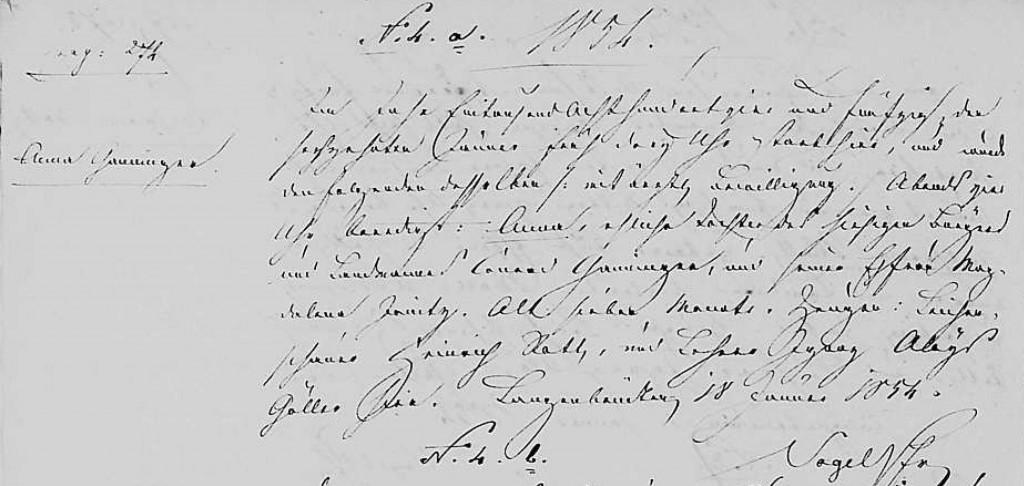 1854 - Tod Ganninger, Anna