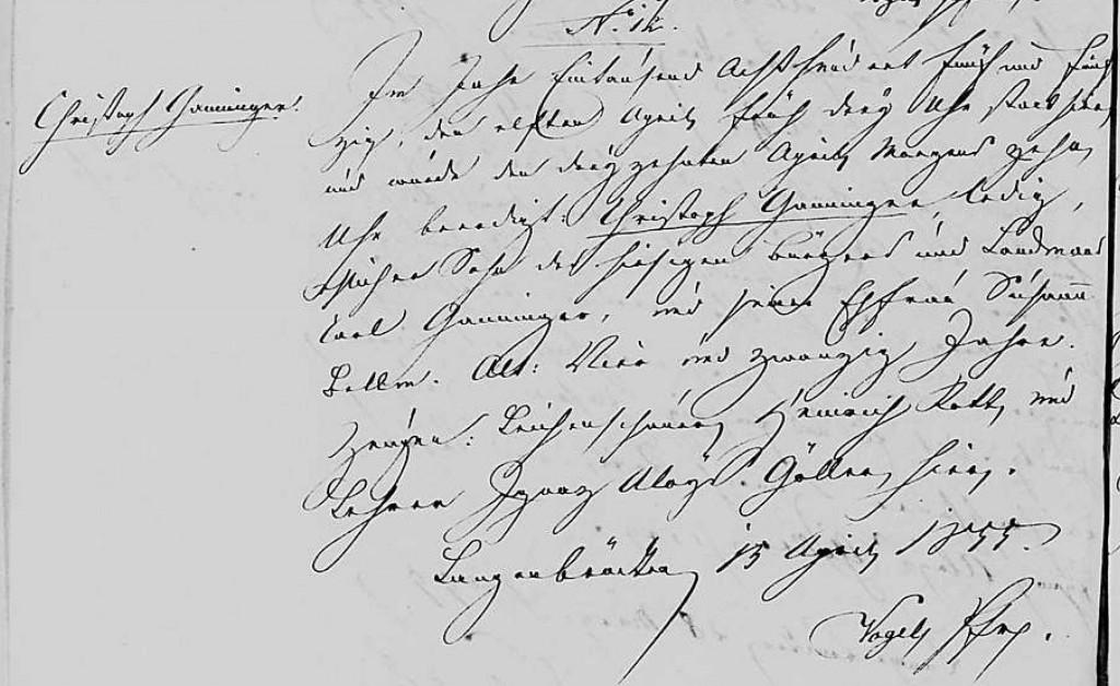 1855 - Tod Ganninger, Christoph