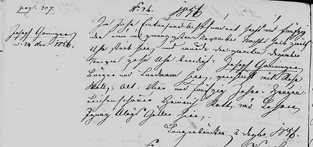 1856 - Tod Ganninger, Joseph