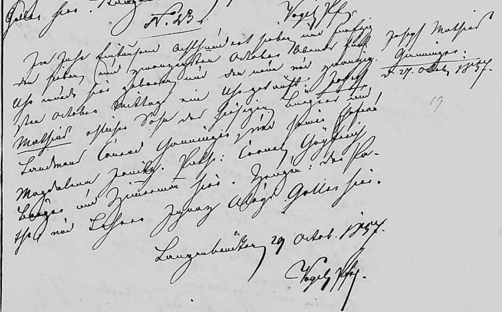 1857 - Geburt Ganninger, Joseph Mathias