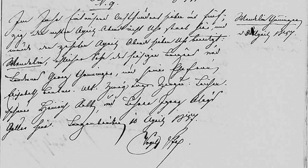 1857 - Tod Ganninger, Wendelin