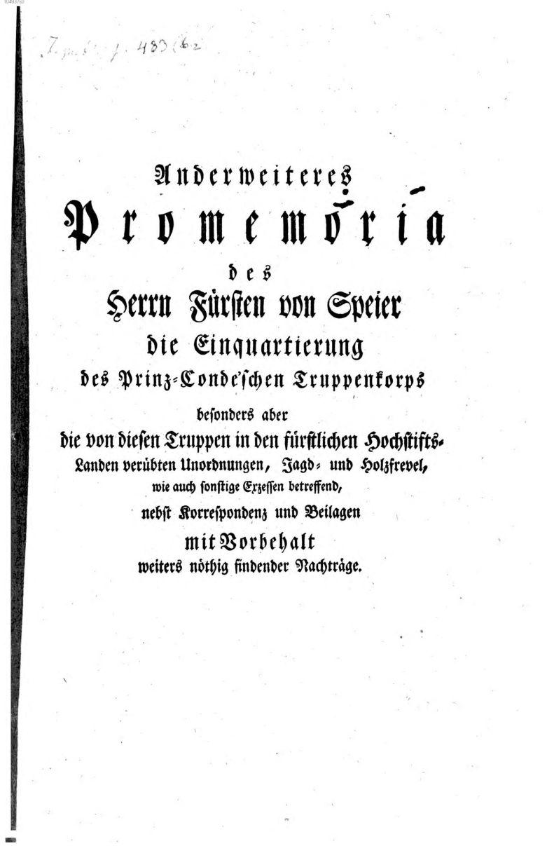Promemoria 1795
